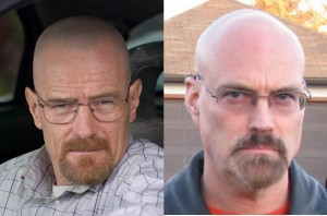 "Cranston & Griffenberg as Walter White in ""Breaking Bad"""