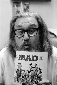 Mad Magazine started as a satirical comic by Bill Gaines