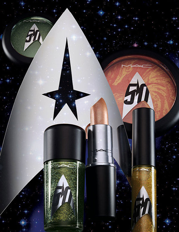 MAC has a new line of makeup with a Star Trek theme